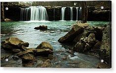 Falling Water Falls Acrylic Print by Iris Greenwell