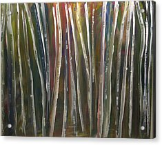 Acrylic Print featuring the painting Fantasy Forest Series by Dolores  Deal