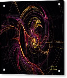 Fenix Arise Acrylic Print by Josephine Morkeberg