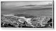 Acrylic Print featuring the photograph Ferrol's Ria Panorama From Mount Ancos Galicia Spain by Pablo Avanzini
