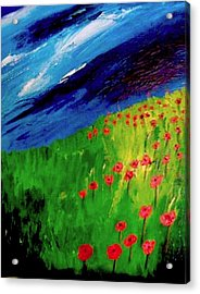 field of Poppies Acrylic Print by Misty VanPool