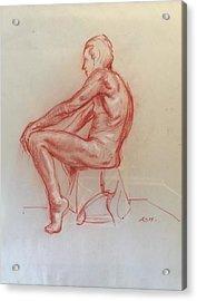 Figure Study Acrylic Print by Alejandro Lopez-Tasso