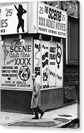 Film Homage Hard Core 1979 Porn Theater The Combat Zone Boston Massachusetts 1977 Acrylic Print