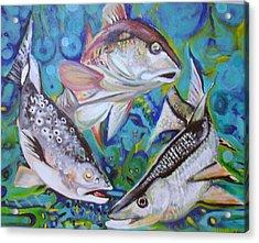 3 Fish Acrylic Print by Ottoniel Lima