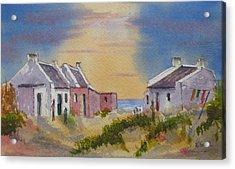 3 Fishermen's Cottages Acrylic Print
