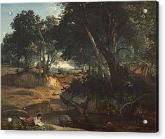 Forest Of Fontainebleau  Acrylic Print by Jean-Baptiste-Camille Corot