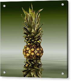 Acrylic Print featuring the photograph Fresh Ripe Pineapple Fruits by David French