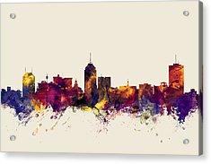 Fresno California Skyline Acrylic Print