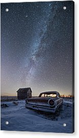 Acrylic Print featuring the photograph 3 Galaxies  by Aaron J Groen