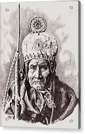 Geronimo Acrylic Print by Toon De Zwart