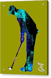 Golf Collection Acrylic Print by Marvin Blaine
