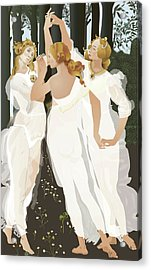 3 Graces Acrylic Print by Terry Cork