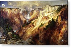 Acrylic Print featuring the painting Grand Canyon Of The Yellowstone by Thomas Moran