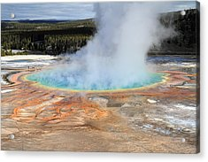 Grand Prismatic Pool In Yellowstone National Park Acrylic Print