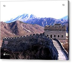 Acrylic Print featuring the photograph Great Wall by Marti Green