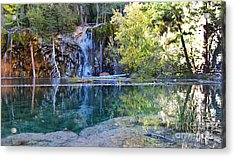 Acrylic Print featuring the photograph Hanging Lake by Kate Avery