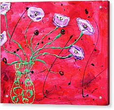Happy Poppies Acrylic Print by Victoria  Johns