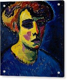 Head Of A Woman Acrylic Print by Alexej von Jawlensky