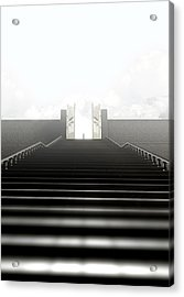 Heavens Gates And Silhouette Acrylic Print