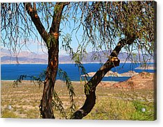 Hoover Dam Visitor Center Acrylic Print by Kathryn Meyer