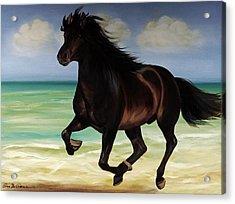 Horses In Paradise  Run Acrylic Print