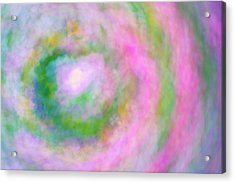 Acrylic Print featuring the photograph Impression Series - Floral Galaxies by Ranjay Mitra