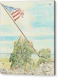 Iwo Jima Acrylic Print by Dennis Larson