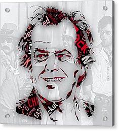 Jack Nicholson Movie Titles Acrylic Print by Marvin Blaine