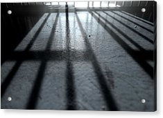 Jail Cell Shadows Acrylic Print by Allan Swart