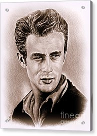 James Dean Acrylic Print by Andrew Read