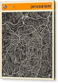 Jerusalem Map Acrylic Print