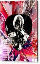Jimmy Page Led Zeppelin Art Acrylic Print by Marvin Blaine