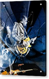 Joe Bonamassa Blues Guitarist Art Acrylic Print by Marvin Blaine