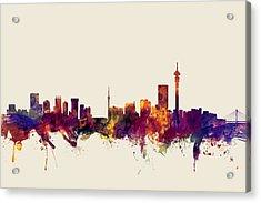 Johannesburg South Africa Skyline Acrylic Print