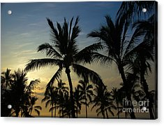 Acrylic Print featuring the photograph Kona Sunset by Kelly Wade