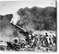 Korean War: Artillery Acrylic Print by Granger