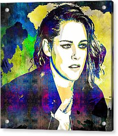 Acrylic Print featuring the mixed media Kristen Stewart by Svelby Art