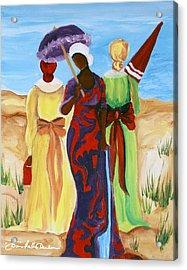 3 Ladies Acrylic Print by Diane Britton Dunham