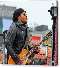 Lenny Kravitz Acrylic Print by Wild Expressions Photography