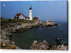 Lighthouse - Portland Head Maine Acrylic Print by Frank Romeo