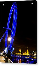 London Eye Night View Acrylic Print