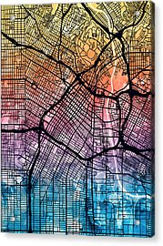 Los Angeles City Street Map Acrylic Print