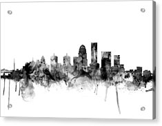 Louisville Kentucky City Skyline Acrylic Print