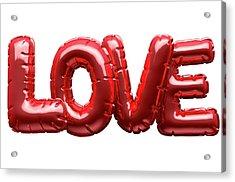 Love Inflatable Balloons Acrylic Print