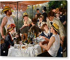 Luncheon Of The Boating Party Acrylic Print by Auguste Renoir