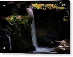 Acrylic Print featuring the photograph Lynn Mill Waterfalls by Jeremy Lavender Photography