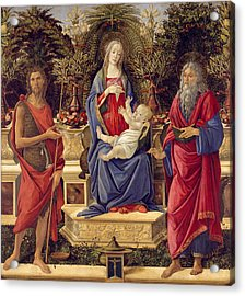Madonna With Saints Acrylic Print