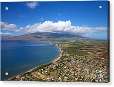 Maui Aerial Acrylic Print by Ron Dahlquist - Printscapes