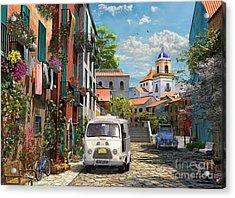 Mediterranean Morning Acrylic Print by Dominic Davison