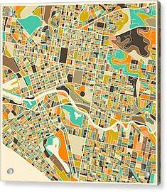 Melbourne Map Acrylic Print